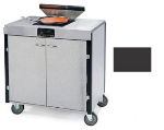 Lakeside 2065 BLK 40.5-in High Mobile Cooking Cart w/Induction Heat Stove, Black