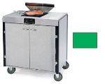 Lakeside 2065 GRN 40.5-in High Mobile Cooking Cart w/Induction Heat Stove, Green