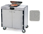 Lakeside 2065 GRSAN 40.5-in High Mobile Cooking Cart w/Induction Heat Stove, Gray Sand
