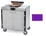Lakeside 2065 PURP 40.5-in High Mobile Cooking Cart w/Induction Heat Stove, Purple