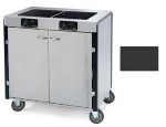 Lakeside 2070 BLK 40.5-in High Mobile Cooking Cart w/ 2-Induction Heat Stove, Black