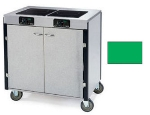 Lakeside 2070 GRN 40.5-in High Mobile Cooking Cart w/ 2-Induction Heat Stove, Green
