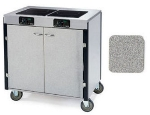 Lakeside 2070 GRSAN 40.5-in High Mobile Cooking Cart w/ 2-Induction Stove, Gray Sand