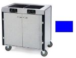 Lakeside 2070 ROYBL 40.5-in High Mobile Cooking Cart w/ 2-Induction Stove, Royal Blue