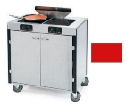 Lakeside 2075 RED 40.5-in High Mobile Cooking Cart w/ 2-Infrared Heat Stove, Red