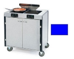 Lakeside 2075 ROYBL 40.5-in High Mobile Cooking Cart w/ 2-Infrared Stove, Royal Blue