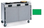Lakeside 2080 GRN 35.5-in High Mobile Cooking Cart w/3-Infrared Heat Stove, Green