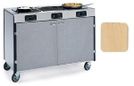 Lakeside 2080 LTMAP 35.5-in High Mobile Cooking Cart w/ 3-Infrared Stove, Light Maple