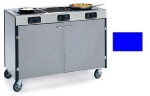 Lakeside 2080 ROYBL 35.5-in High Mobile Cooking Cart w/ 3-Infrared Stove, Royal Blue