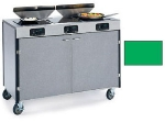 Lakeside 2085 GRN 40.5-in High Mobile Cooking Cart w/3-Infrared Heat Stove, Green