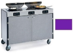 Lakeside 2085 PURP 40.5-in High Mobile Cooking Cart w/3-Infrared Heat Stove, Purple