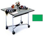 Lakeside 413 GRN 36-in Square Drop-Leaf Room Service Table w/ Laminated Top, Green