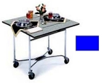 Lakeside 413 ROYBL 36-in Square Drop-Leaf Room Service Table, Royal Blue