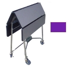 Lakeside 416 PURP 36-in Square Folding Room Service Table w/ Laminated Top, Purple
