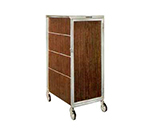 Lakeside 645 RMAP Enclosed Bus Cart w/ (16) 14 x 18-in Shelves, Red Maple