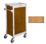 Lakeside 654 LMAP Tray Delivery Cart w/ (6) 16 x 22-in & Removable Door, Light Maple