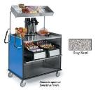 Lakeside 660 GRSAN Compact Mart Cart w/ Overshelf & (1) 70-lb Shelf, Gray Sand