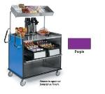 Lakeside 660 PUR Compact Mart Cart w/ Overshelf & (1) 70-lb Shelf, Purple
