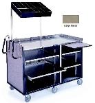 Lakeside 680 BEGSU 60-in Deluxe Cart w/ Adjustable Shelves & Handles, Beige Suede