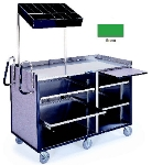 Lakeside 680 GRN 60-in Deluxe Mart Cart w/ Adjustable Shelves & Handles, Green