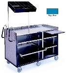 Lakeside 680 RBLU 60-in Deluxe Mart Cart w/ Adjustable Shelves & Handles, Royal Blue