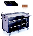 Lakeside 680 VCHER 60-in Deluxe Cart w/ Adjustable Shelves & Handles, Victorian Cherry
