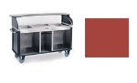 Lakeside 682-10 RED 77.25-in Mobile Kiosk w/ 3-Compartments & Handle, Red