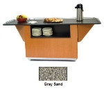 Lakeside 6850 GRSAN 87.25-in Breakout Dining Station w/ 2-Compartment, Gray Sand