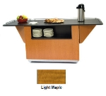 Lakeside 6850 LMAP 87.25-in Breakout Dining Station w/ 2-Compartment, Light Maple