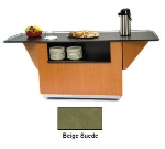Lakeside 6855 BEGSU 99-in Breakout Dining Station w/ 2-Compartment, Beige Suede