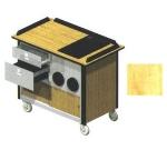Lakeside 690-10 HRMAP 44.5-in Hydration Nutrition Cart w/ Full Drop-In Pan, Hard Rock Maple