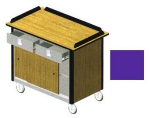 Lakeside 690-20 PUR 44.5-in Hydration Nutrition Cart w/ 2-Drawers, Purple