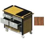 Lakeside 690-30 VCHER 44.5-in Hydration Nutrition Cart w/ 1-Utility Drawer, Victorian Cherry