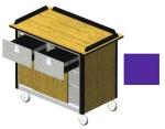 Lakeside 690-40 PUR 44.5-in Hydration Nutrition Cart w/ Sliding Doors, Purple