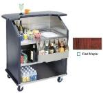 Lakeside 884 RMAP 43-in Portable Bar w/ 40-lb Ice Bin & Drain, Speed Rail, Red Maple