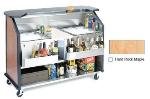 Lakeside 886 HRMAP 63.5-in Portable Bar w/ (2) 40-lb Ice Bin, Speed Rail, Hard Rock Maple