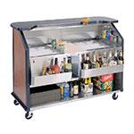 Lakeside 886 VCHER 63.5-in Portable Bar w/ (2) 40-lb Ice Bin, Speed Rail, Victorian  Cherry