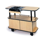 Lakeside 38105 42.5-in Enclosed Base Cooking Cart w/ Butane Cooktop & Built-In Grate