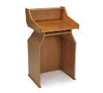 Lakeside 73550 Wood Veneer MaitreD Stand w/ Top Shelf, 20 x 20-5/8 x 46-in, Blonde