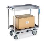 Lakeside 938 Utility Cart w/ (2) 18 x 27-in shelves & Angle Frame, 1000-lb