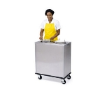 Lakeside 935 Mobile Dish Dispenser Cabinet w/ 2-Self-Leveling Tubes, 12-in