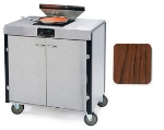 Lakeside 2065 WAL 40.5-in High Mobile Cooking Cart w/Induction Heat Stove, Walnut