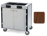 Lakeside 2070 RMAP 40.5-in High Mobile Cooking Cart w/ 2-Induction Stove, Red Maple