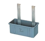 Lakeside 208-6 Plastic Bus Cart Silver Box, Bulk Pack, Gray