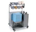Lakeside 2620 Mobile Tray Starter w/ Tray & Plate Dispenser