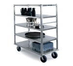 Lakeside 4567 Extreme Duty Banquet Cart w/ (5)64-in Shelves, 2500-lb, Aluminum
