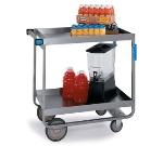 Lakeside 527 Heavy Duty Utility Cart w/ (2) 21 x 33-in Shelves & Bumpers, 700-lb