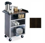 Lakeside 636 WAL Laminate Beverage Service Cart w/ (3) 15.5 x 24-in Shelves, Walnut