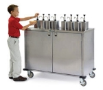 Lakeside 70200 Locking Condiment Cart w/ 8-Pumps, Uses 3-Gallon Volpak Pouches