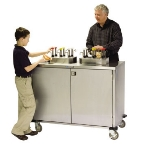 Lakeside 70270 Locking Condiment Cart w/ 12-Pumps, Uses 3-Gallon Volpak Pouches